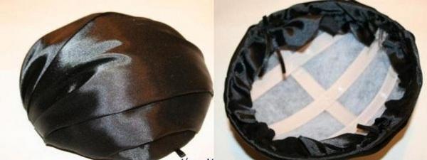 Декорируем каркас атласом. Фото с сайта http://womanadvice.ru