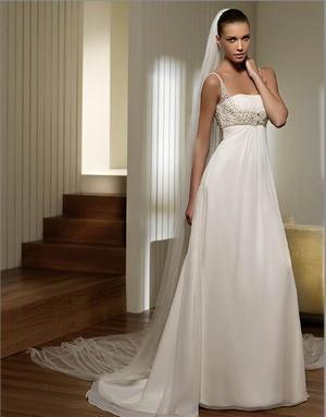 Как выбрать свадебное плаье для беременной. Фото с сайта www.toangel.ru 126602fed1c