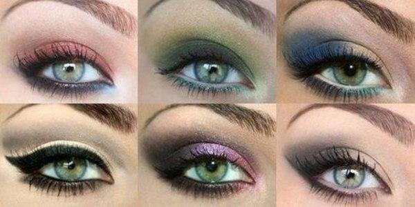 Разные оттенки зеленых глаз и макияж. Фото с сайта vk.com