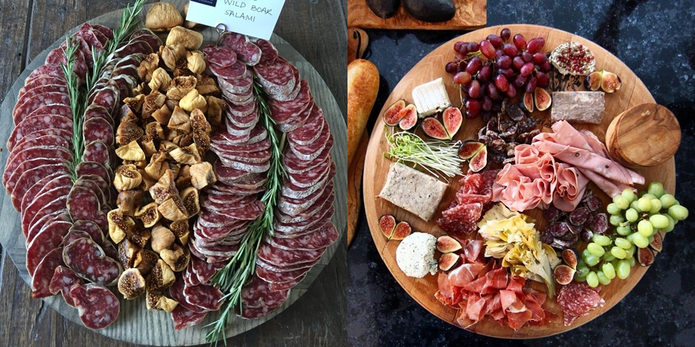 Красивая мясная нарезка - ассорти для гостей
