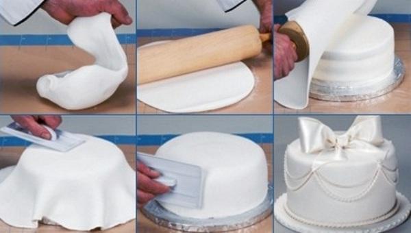 Покрываем торт мастикой. Фото с сайта www.liveinternet.ru