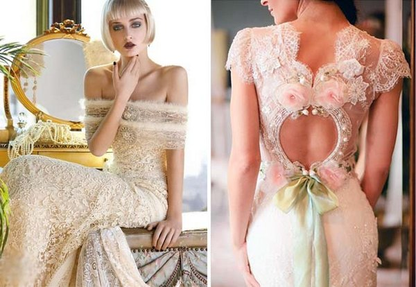 Короткий рукав в платье невесты. Фото с сайта lulusvadba.ru