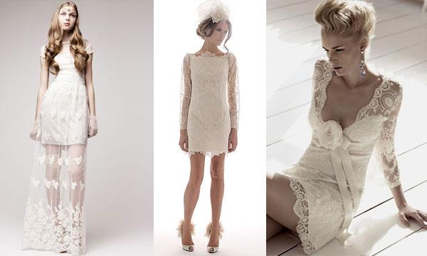 Короткое свадебное платье для стильной невесты. Фото с сайта weddress.info