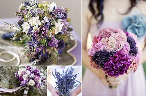 Полевые цветы прекрасно смотрятся в свадебном букете. Фото с сайта www.mir-svadba.ru