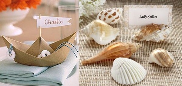 Идея для свадьбы в морском стиле. Фото с сайта http://podarki.ru/