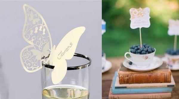 Карточки-бабочки и ягодный вариант. Фото с сайта http://wedding-mood.com