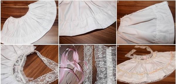 Процесс изготовления свадебного платья на бутылку. Фото с сайта http://womanadvice.ru/