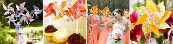 Вертушки — ярко и интересно! Фото с сайта www.discoverwedding.ru