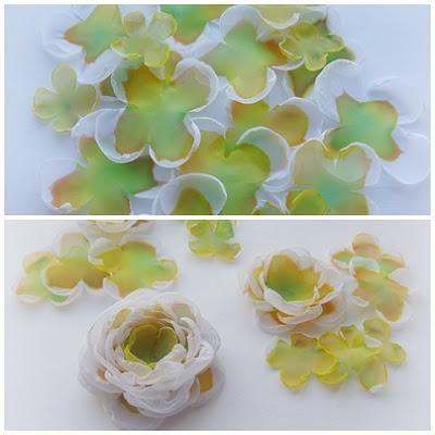 Цветы из ткани своими руками при помощи свечки 66