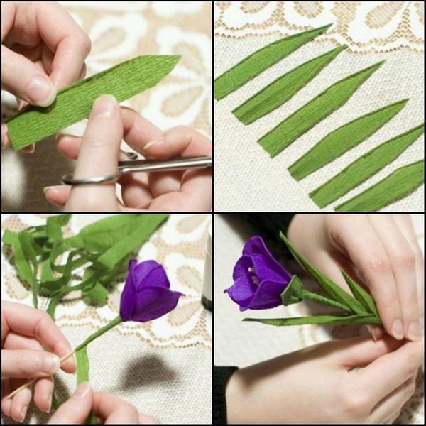 Делаем стебель и листья. Фото с сайта http://belosnezhka.com/