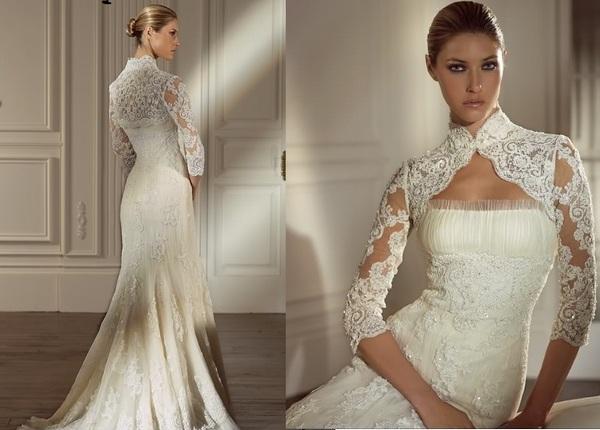 Кружево в оформлении свадебного платья — чем оно так привлекает? Фото с сайта www.vse-nevestam.ru