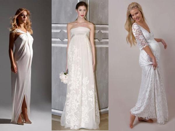 Кружевной наряд для невесты в положении. Фото с сайта www.as-fotos.spb.ru