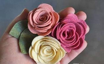 Розы из фетра — украшение и подарок. Фото с сайта kopilka.ru