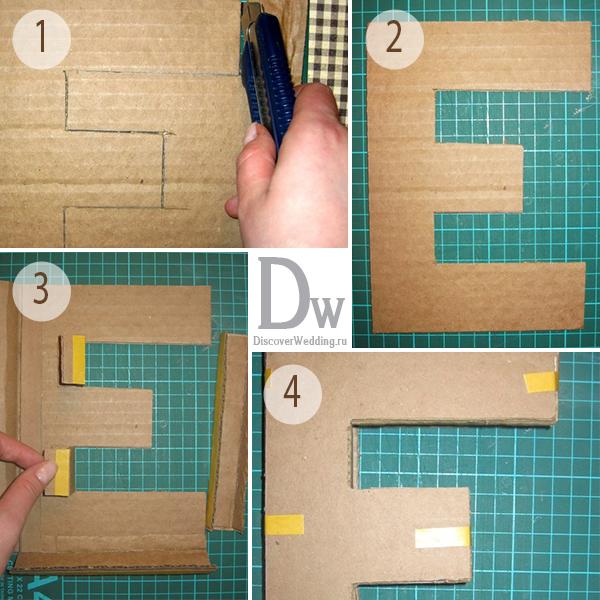 Вырезаем деталь из картона. Фото с сайта ldiscoverwedding.ru