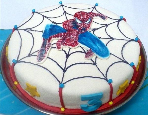 """Торт """"Человек-паук"""" для мальчиков"""