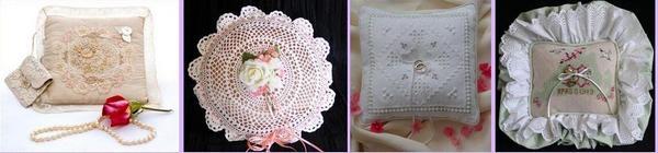 Оригинальные подушечки для колец — сделанные своими руками. Фото с сайта www.lumo.ru